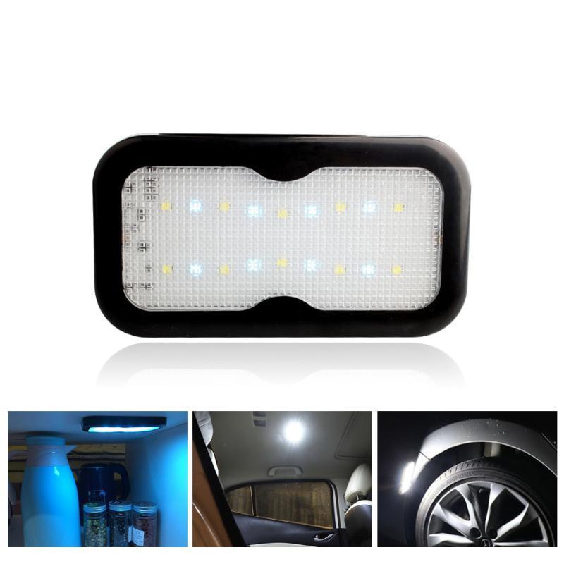 1PCS 자동차 인테리어 조명 LED 라이트 자동차 천장 읽기 자석 천장 램프 유니버설 자동차 인테리어 USB 충전