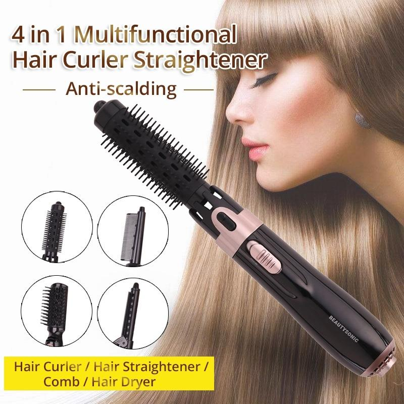 HOT 4 em 1 Professionele Haar cabelo Ferramentas Multifuncional Cabelo Straightener Curler Air Comb One Step Secador de Cabelo e Volumizer