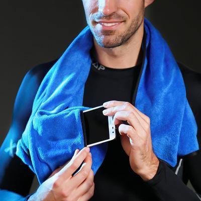 Caliente del envío libre toalla fresca de algodón capó deporte sudar-absorbente toalla de natación de la aptitud de almacenamiento de bolsillo para teléfono móvil toallitas E1