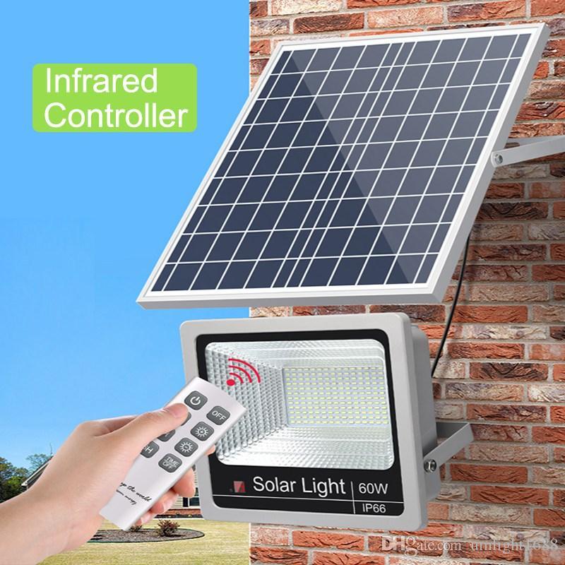 Umlight1688 Solarflutlicht 10W 40W 60W 100W Außenflutlicht IP65 Flutlichtstrahler Solarbetriebenes LED-Flutlicht Außenwand