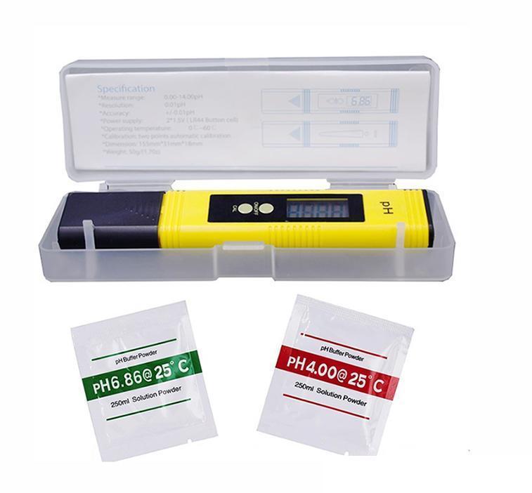 2020 New Protable Digital PH Meter 0.00-14.0 PH Tester for Aquarium Pool Wine Automatic Calibration Water Quality Monitor