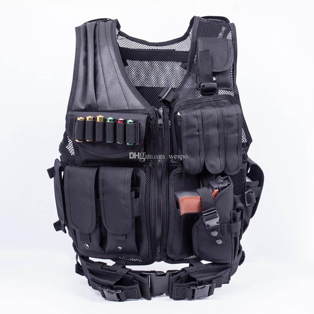 Einstellbare Tactical Armee Airsoft Molle Weste Kampf-Jagd-Weste mit Holster Paintball-Schießen-Jagd Molle Weste für CS Wargame