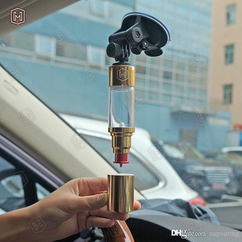 Newest Silver Gold Dripper Bottle Oil Filling Tool 30ML Car Holder For Vape Vaporizer Dripping RDA Tank Innovative Design Portable 1