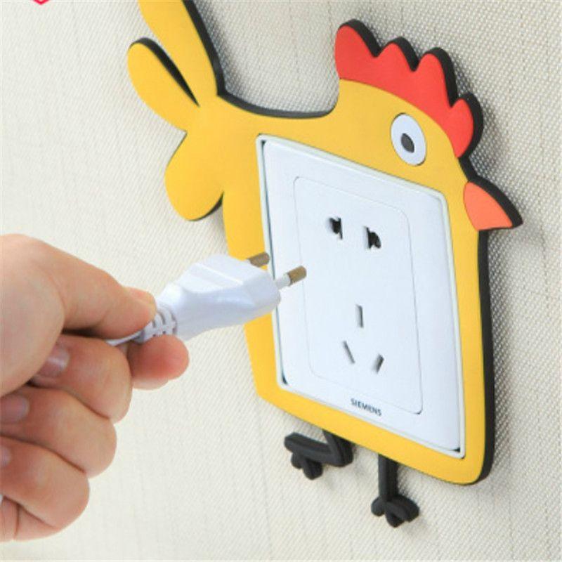 1pcs Home Light Switch Creative Decoration cartoon Wall Socket Sticker Cover