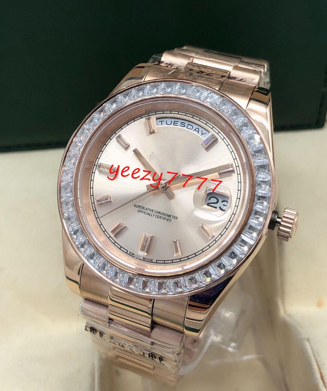 new mens diamond watch master 41mm Daydate 228398tbr 218348 218235 228235 rose gold dial&case mechanical automatic movement wristwatch