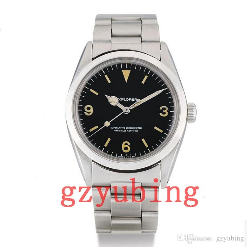 2020 Wristwatches 1965 years Vintage 36mm Explorer Air King Stainless Steel Mechanical Automatic Men Mens Watch Watches Wristwatches