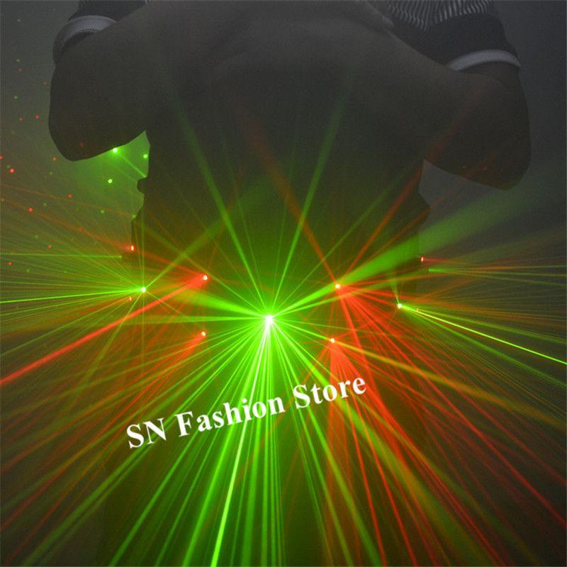 K02 Party dance stage light costumes green laser belts red laser beams laser men projector robot men wear dj dress show disco dress outfits
