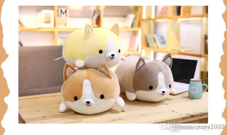 30/45 / 60 cm Niedliche Corgi Hund Plüsch Spielzeug Gefüllte Weiche Tier Cartoon Kissen Schöne Weihnachtsgeschenk für Kinder Kawaii Valentine Geschenk