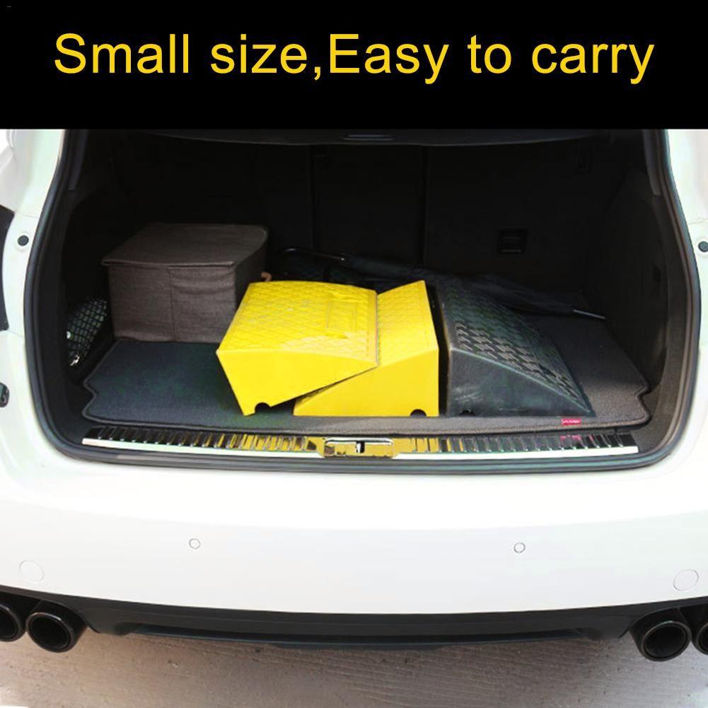 Kit de rampas de plástico resistente de calçada de carro de plástico leve portátil definido para caminhão de carro do beco