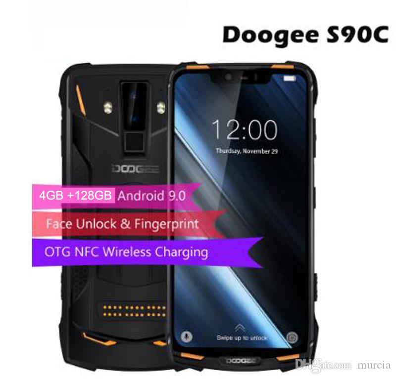 "DOOGEE S90C IP68/IP69K Rugged Phone Android 9.0 Helio P70 Octa-Core 4GB RAM 128GB ROM 6.18"" FHD+ Display 16MP Dual Cams 5050mA"