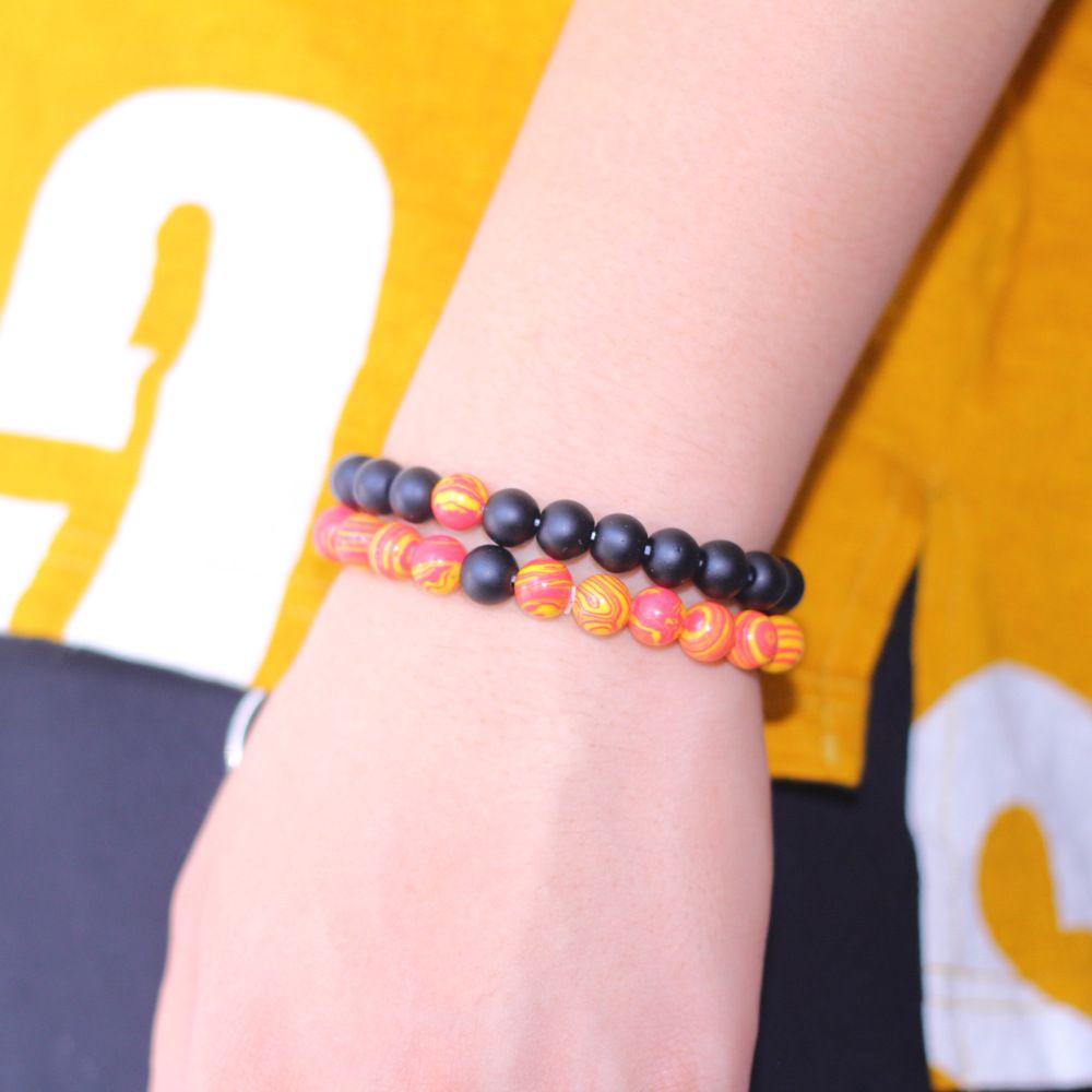 Trendy Jewelry Transfer luck Yellow malachite sandstoneBracelet Chakra Yoga Beads 8mm Natural Stone Beads Bracelets For Women