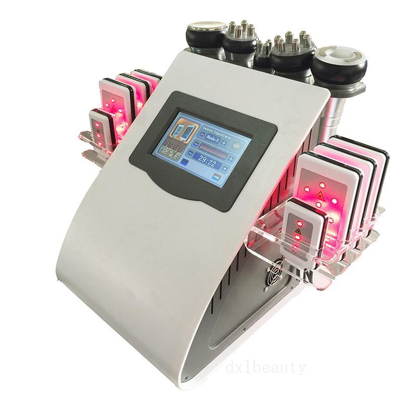 1 Diyot Lipo Lazer Zayıflama rf vakum Ultrason kavitasyon Yağ Azaltma Selülit Temizleme Skin Profesyonel 6 Güzellik Makinesi Sıkma