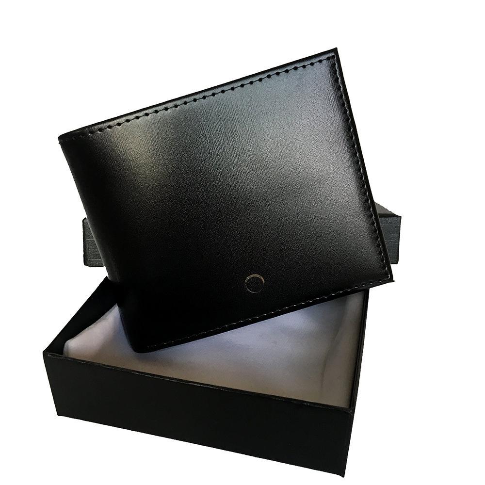 European and American popular designer wallet ultra-thin pocket credit card holder men's wallet classic black leather bill holder short