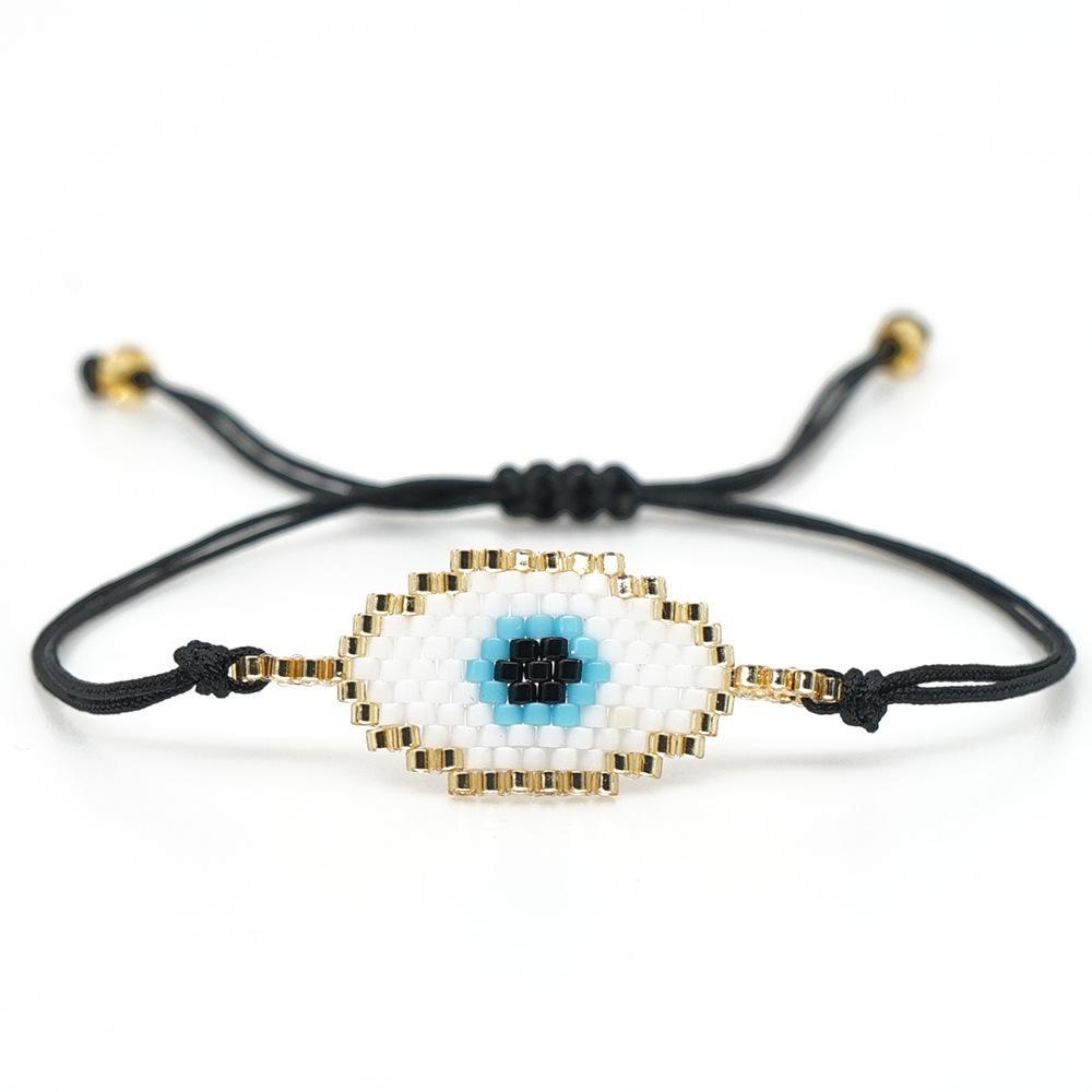 Mujer Schmuck Frauen Augenbranchen Handgemachte Stahl Pulseras Armband Böse Moda 2019 Miyuki Shinusboho Quaste Edelstahl Türkische Perle VGNMQ