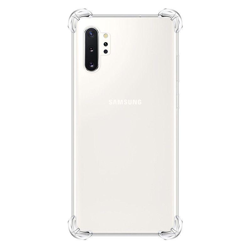 Funda transparente a prueba de golpes para Samsung Galaxy A10S / A20S / M30S / A80 / A90 / Note 10 / Note 10 Pro Clear Protection Contraportada + Cordón