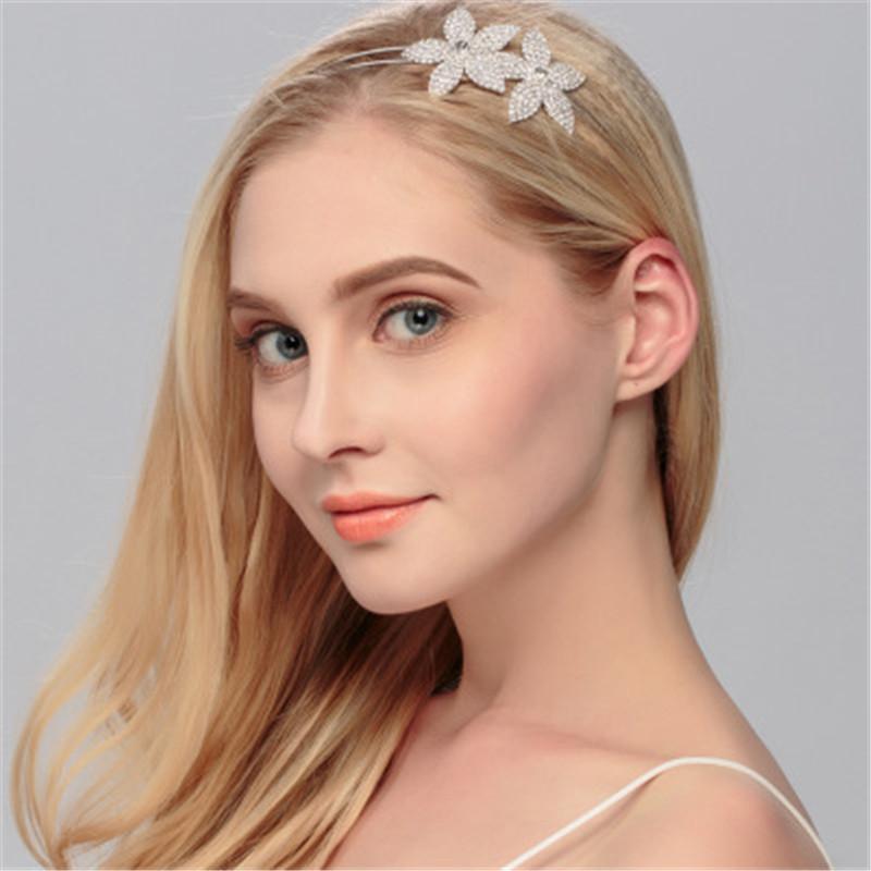 Beau cerceau simple étoile cheveux Charms Ziron femmes Accessoires Déclaration métal main filles Couvre-chef Mode de mariée Coiffe