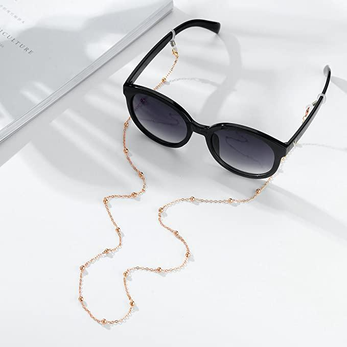 Beaded Sunglass Chain Hanging Neck Eyeglass Retainer Chains Eyewear Strap Holder Reading Glasses Strap for Women Fashion Accessories B155F
