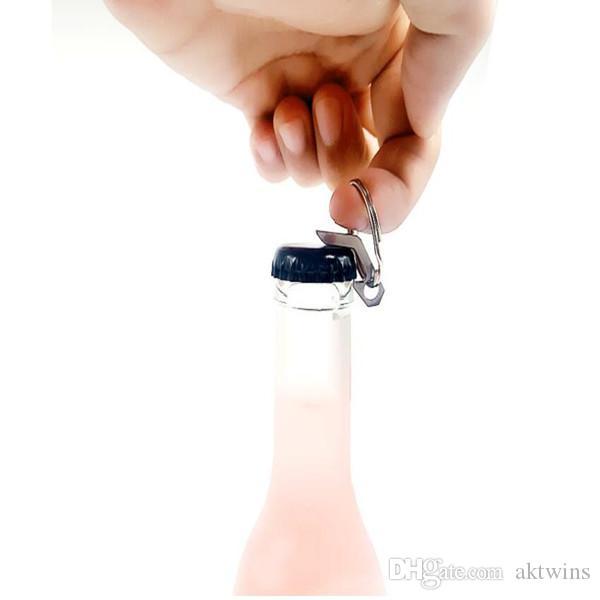 Мода Мини брелок EDC Мини бутылок с металлическим кольцом Открытый кемпинга Оборудование Карманный Легкий Бар Инструменты WY459Q