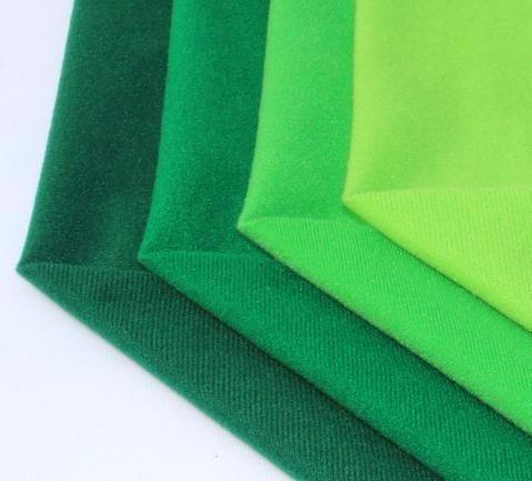 4Pcs Green Fleece Fabric Polyester Loop Fabrics can Plush Brushed Cloth for Sewing Doll Velvet Felt DIY Stuff Toys