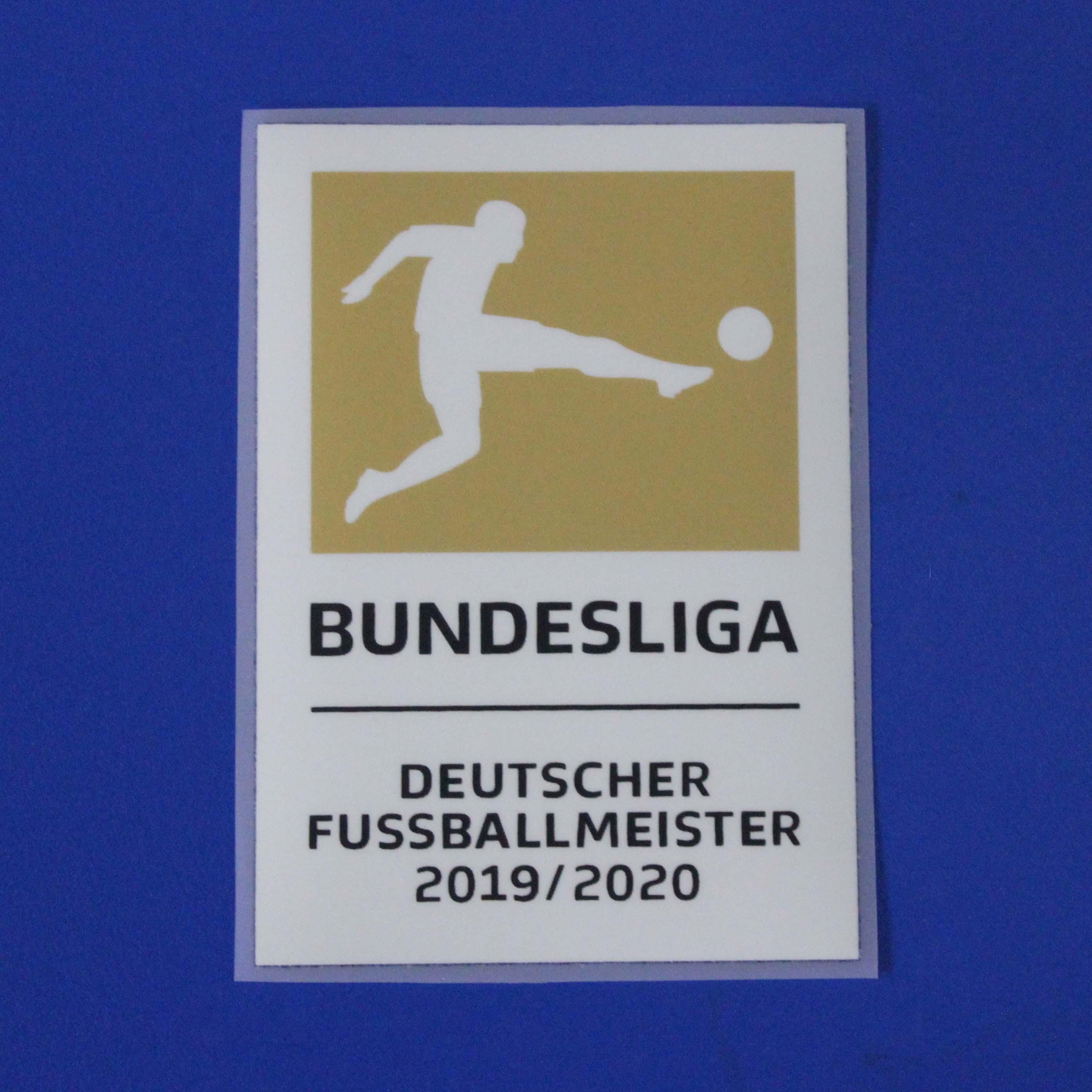 2019-2020 Bundesliga Deutscher FussballMeister Futbol yama Bundesliga Ligi Şampiyonu futbol rozeti
