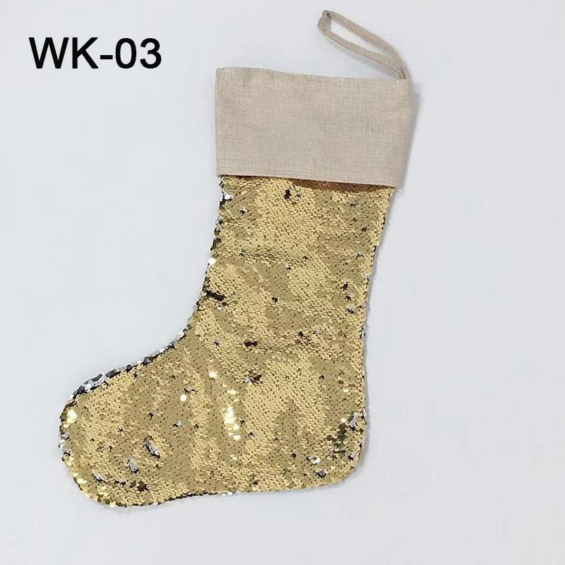 Nuovo arrivo di Natale calzini tela Babbo Natale Calze calza natale Gift Bag per i bambini decorazione Alberi di Natale