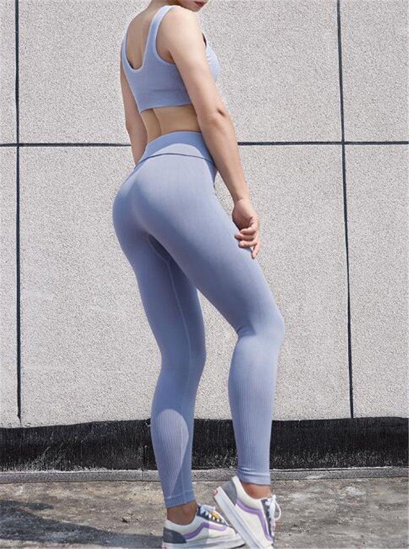 لو-اللباس عالية الخصر الصلبة اللون النساء السراويل اليوغا الرياضة رياضة الملابس مطاطا للياقة البدنية سيدة عموما الجوارب كاملة تجريب