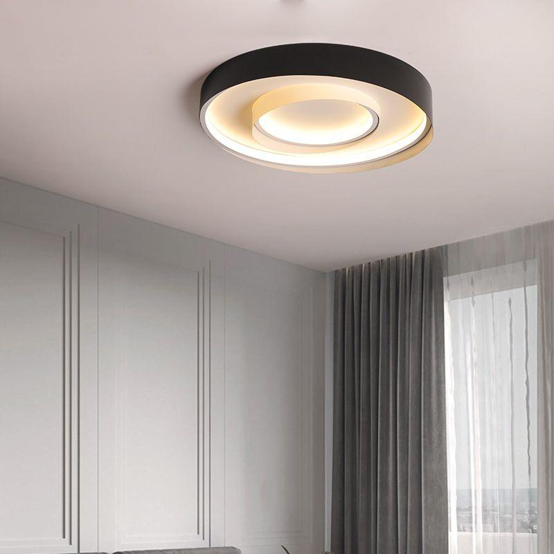 الحديث الإبداعية LED سقف الأنوار للنوم غرفة المعيشة غرفة الطعام مطبخ أسود أبيض الحديثة السقف مصباح الإضاءة في الأماكن المغلقة