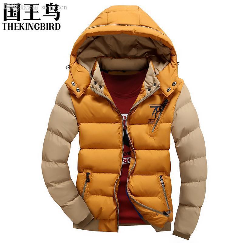 Vestes de la mode pour hommes 2016 veste de coton d'hiver La nouvelle veste matelassée Casual Mode homme épais duvet détachable Cap Coat95
