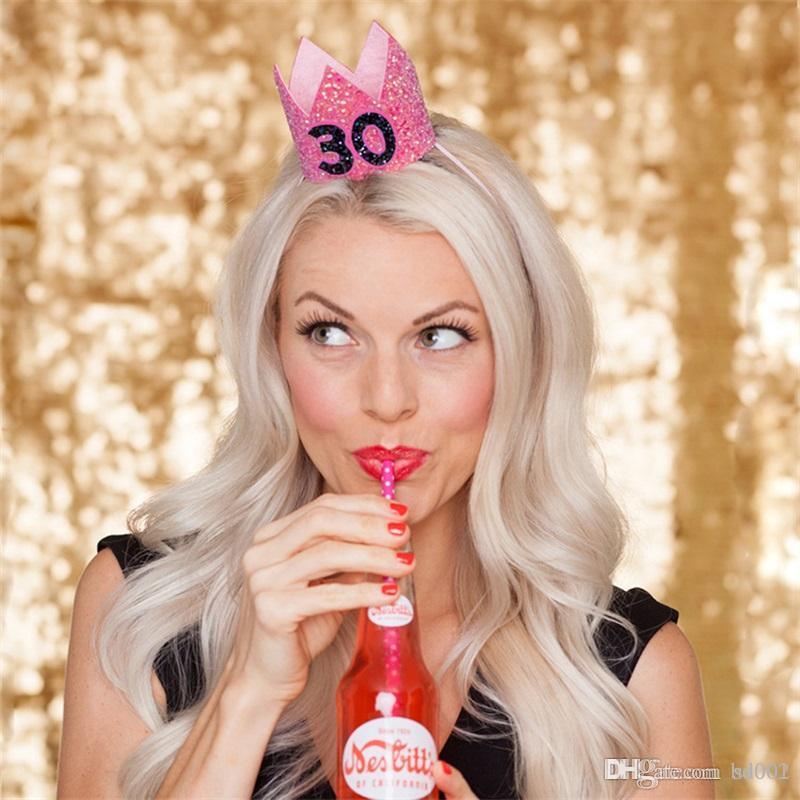 Despedida de soltera Novia Headwear Corona Princesa Fiesta de cumpleaños Adornos para el cabello Suministros de celebración Tocado Aro del pelo Moda linda 5lc A1