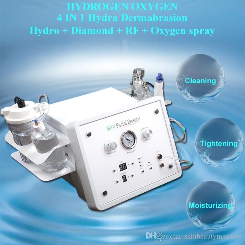 هيدرا الوجه بالموجات فوق الصوتية آلة الغسيل الجلد جلدي الأكسجين النفاث شفط تقشير الجلد تردد الراديو المنزلية الوجه العناية بالبشرة