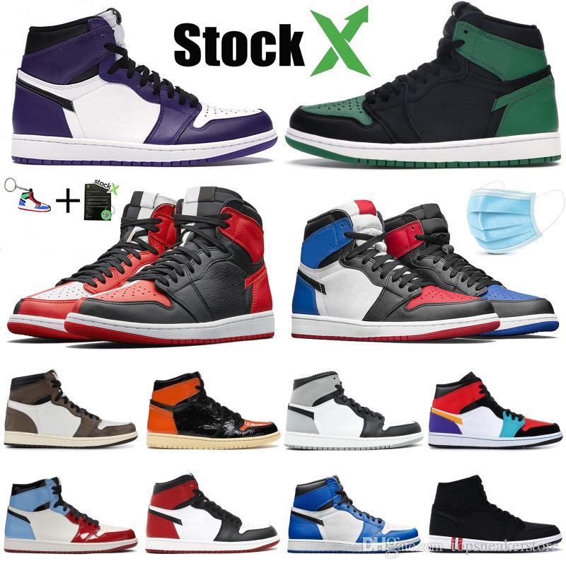 nike air jordan 1 zapatos de baloncesto para hombre OG altos prohibidos Bred Toe diseñador de mejor calidad para hombre atletismo zapatillas de deporte entrenadores 40-47