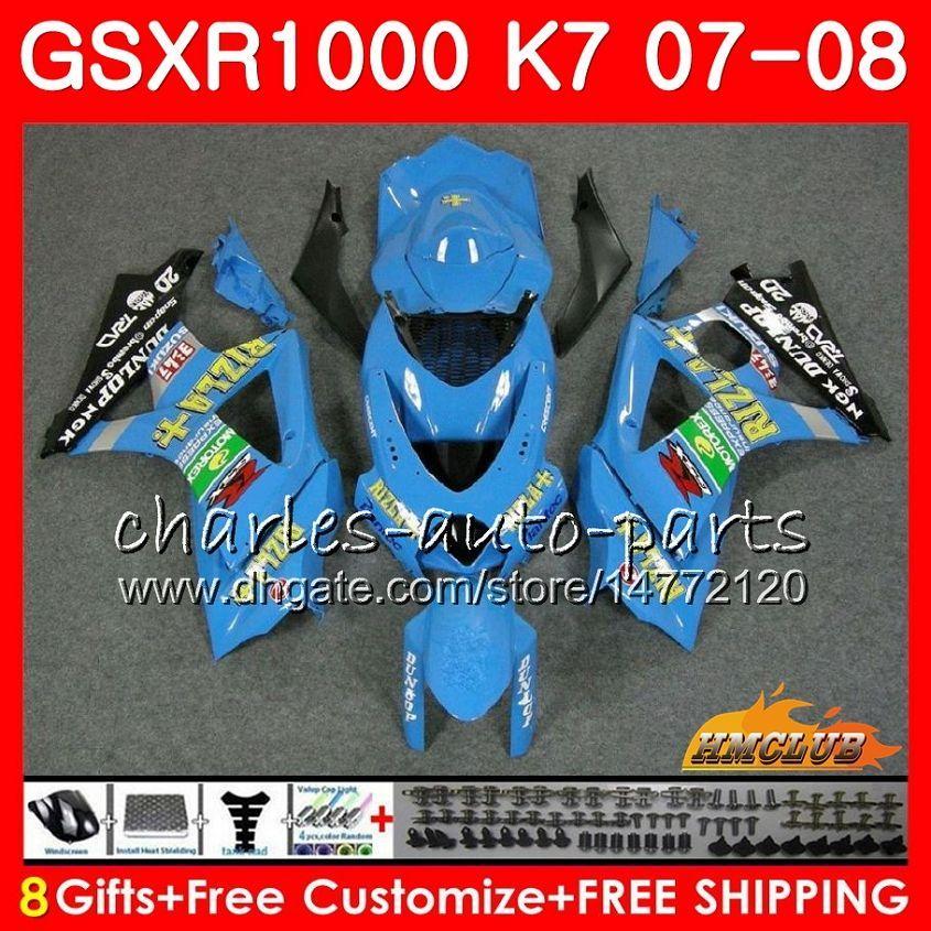 Bodywork para Suzuki GSXR-1000 GSXR1000 2007 2008 07 08 Bodys 12HC.30 GSX R1000 GSX-R1000 K7 GSXR 1000 07 08 ABS Fairing Kit