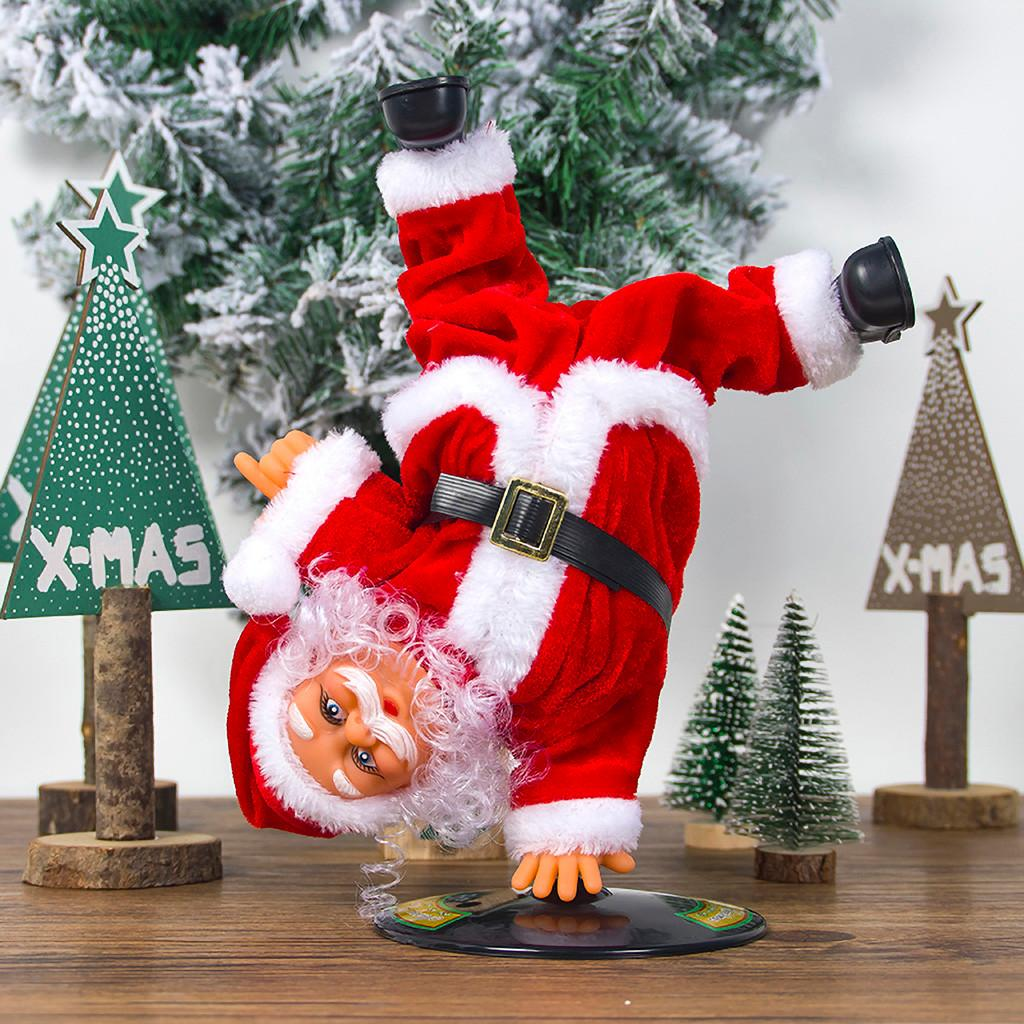 AO99 Stylish Xmas Electric Twerk Santa Claus Toy Music Dancing Doll Xmas Gift