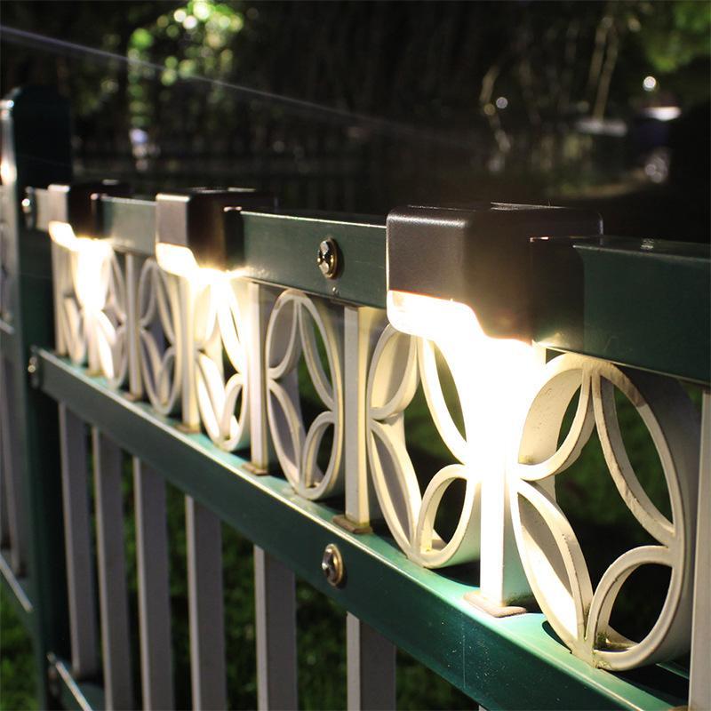 الطابق الشمسية أضواء الخطوة الشمسية أضواء في الهواء الطلق مقاوم للماء سياج بقيادة مصباح للطاقة الشمسية للفناء السلالم حديقة الممر الخطوة يارد