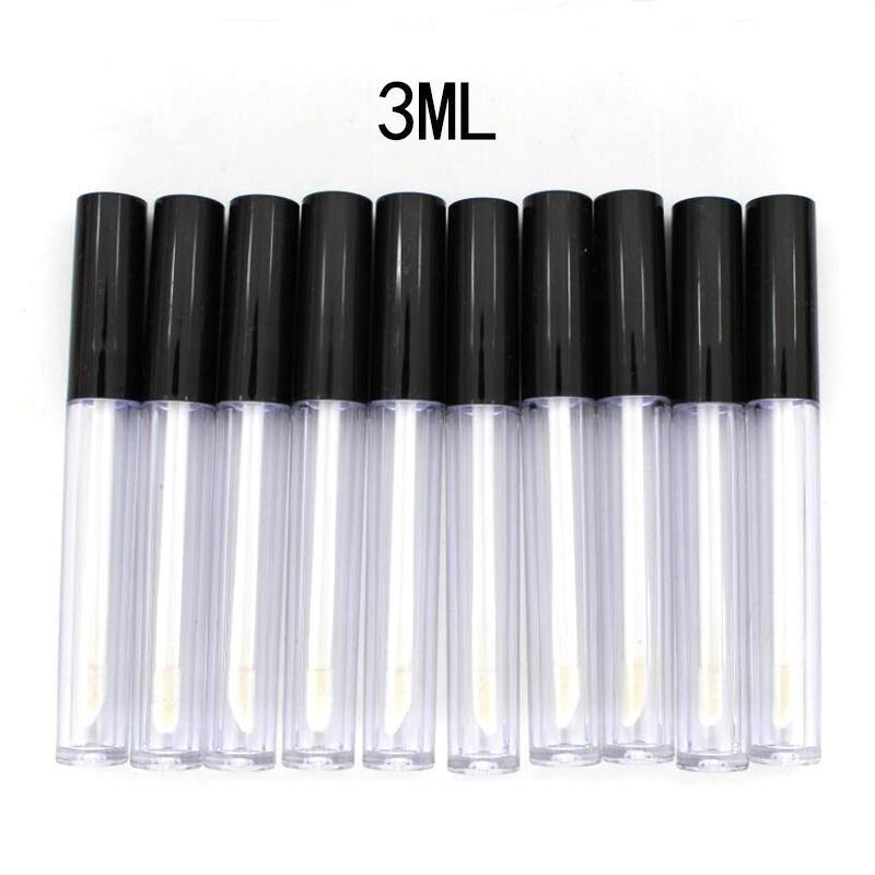 Sızdırmaz İç Numune Kozmetik Konteyner DIY ile Plastik Dudak Parlatıcı Tüp Küçük Ruj Tube 3ml ABD Stok 50pcs / lot