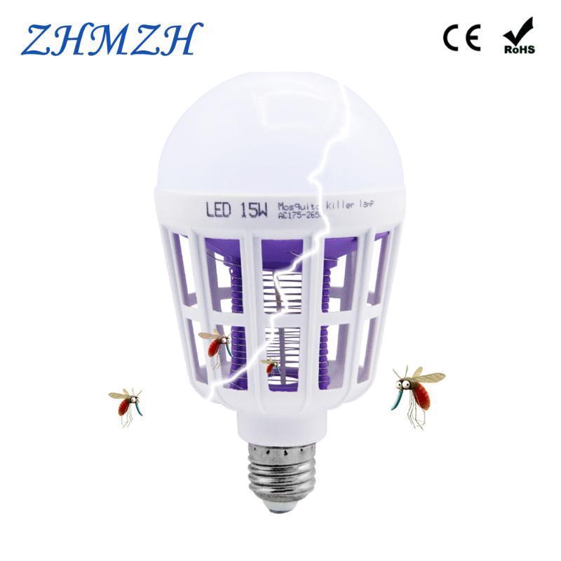 Двойной используется 15 Вт светодиодные лампы E27 Комаров убийца лампы 110 В 220 В Комаров репеллент убийство освещение ошибка Zapper энергосберегающие лампы