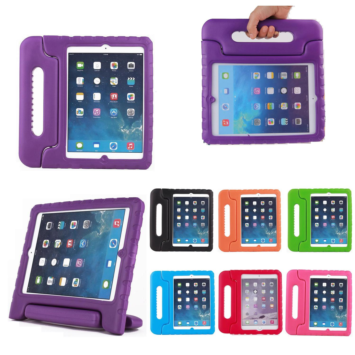 EVA Foam Handle Kids Children Stand Case For Apple Ipad MINI 2 3 4 Air 2018 9.7 Shockproof Cover Tablet Case