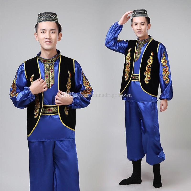 vêtements ethniques Sinkiang danse scène festival adulte partie usure du Xinjiang costume hommes caractéristiques de performance costume cosplay ouïghour
