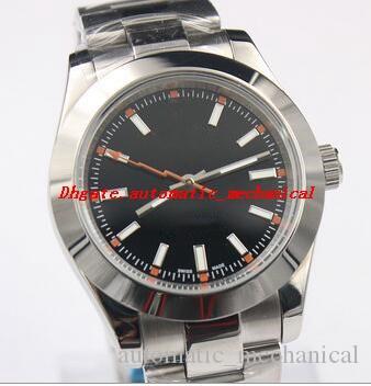 6 couleurs Mode Hommes Montre-bracelet 40mm 116400 acier inoxydable Cadran Blanc Noir Automatique Bracelet Montre de Luxe Livraison gratuite