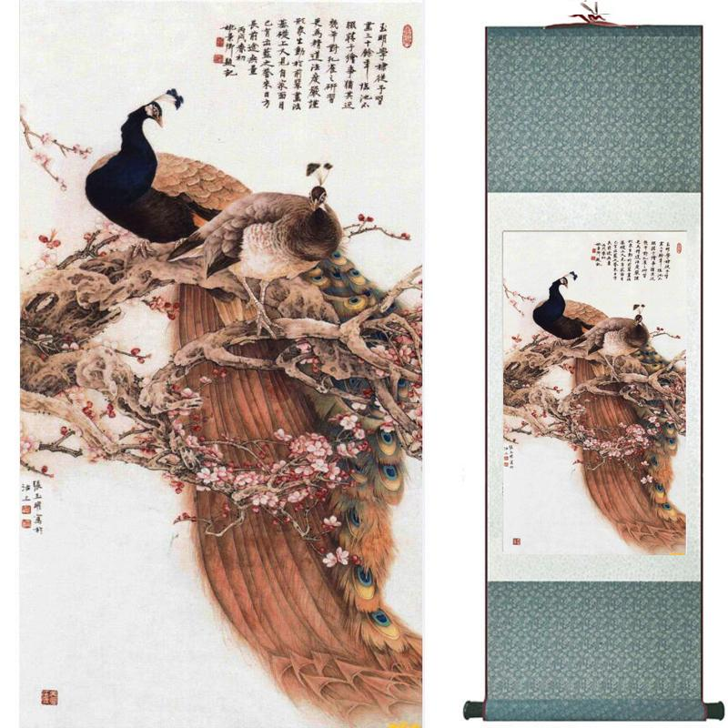 Birds On The Tree Painting Home Office Decoration Chinese Scroll Painting Birds Painting Birds And Flower Painting062908