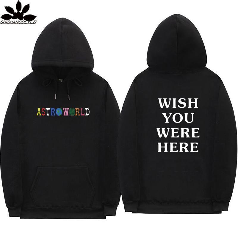 Vente chaude Travis Scott lettre de la mode Astroworld l'impression à capuche Streetwear Homme et femme Sweat-shirt
