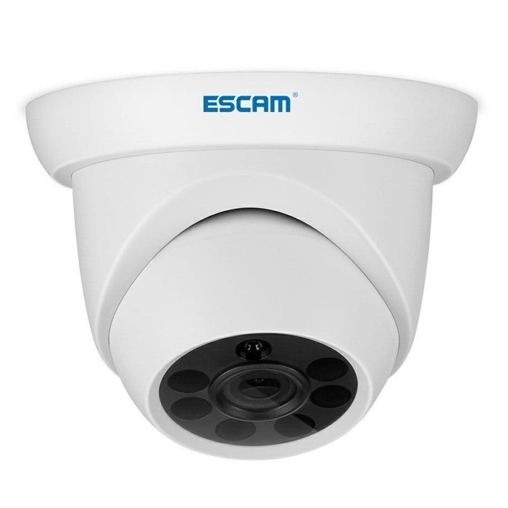 ESCAM QH001 야외 1080P 돔 IP 카메라 H.265 데이 나이트 비전 모션 감지 ONVIF 프로토콜 3D DNR IR 거리 - 화이트 / 미국 플러그