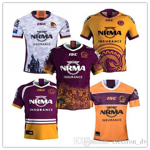 Brisbane Broncos ANZAC Ronda de rugby Jersey 2019 2020 Liga Nacional de camiseta de rugby camiseta de rugby Brisbane Broncos jerseys s-3xl