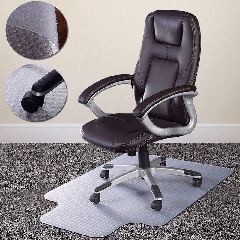Dudak sandalye minderi Ahşap zemin koruma tırnak kalın şeffaf halı ile kaymaz zemin mat pvc Ofis sandalyesi halı paspaslar