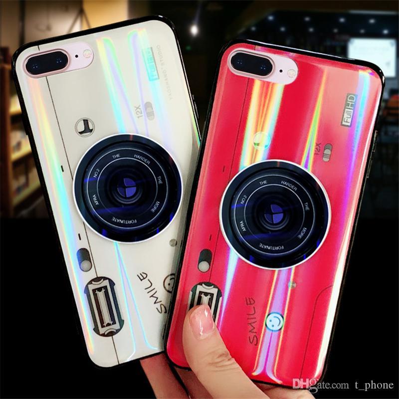 Творческий Aurora Красочный телефон чехол для iPhone 7/8 / X ТПУ телефон Обложка сотовый телефон Протектор с держателем камеры