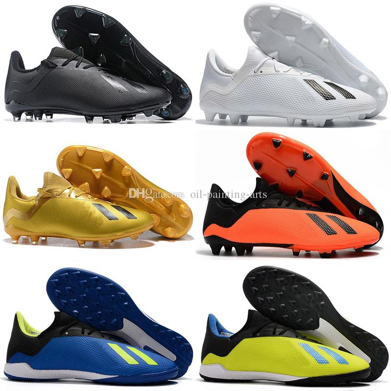cheap for discount a7624 2a9f1 2019 Fashion Mens Ace 18 Purechaos FG Soccer Shoes World Cup Football Boots  ACE Tango 18 PureControl Ronaldo Neymar Soccer Cleats Walking Boots Ankle  ...