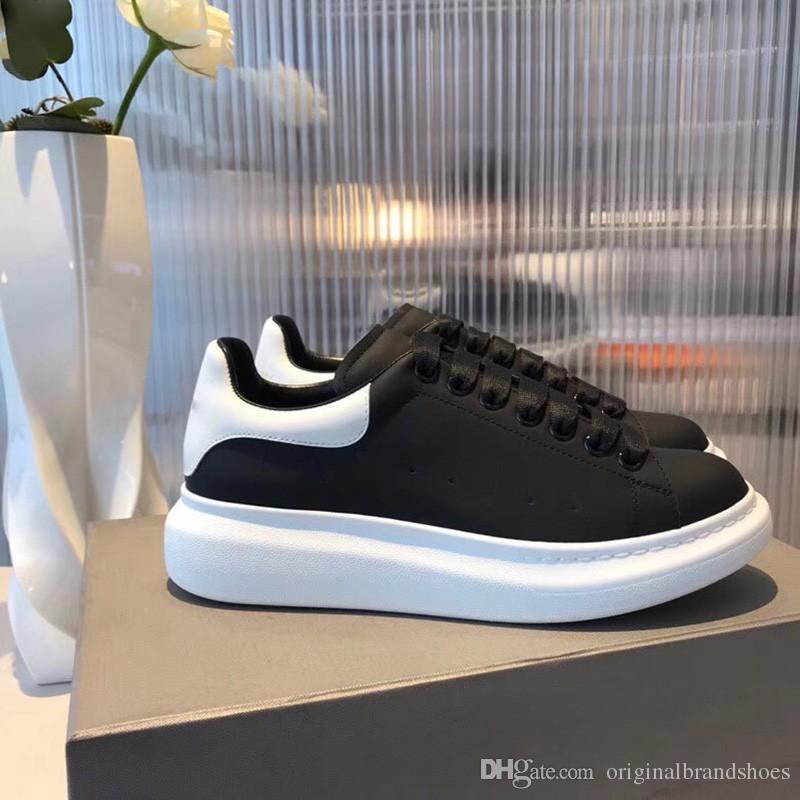 Avec Boîte En Cuir Blanc collocation En Cuir Rouge Vert D'or Designer Plateforme Baskets Hommes De Mode De Luxe Casual Chaussures Taille 35-44