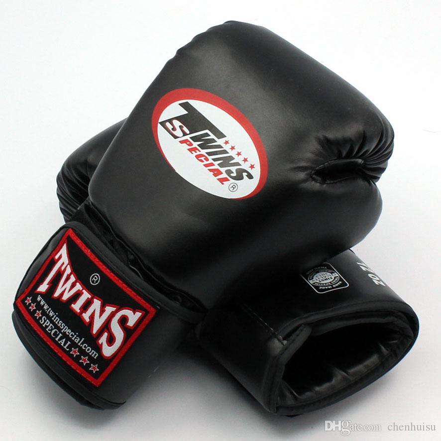 8 10 12 14 أوقية التوائم قفازات ركلة الملاكمة قفازات جلدية pu ساندا الرمل التدريب الأسود قفازات الملاكمة الرجال النساء guantes الملاكمة التايلاندية