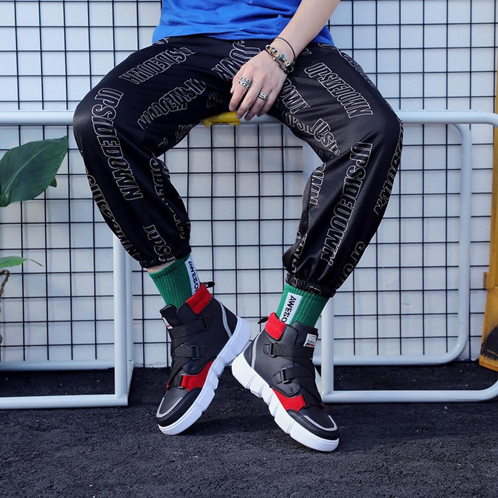 الأحذية SAGACE رجال عارضة الأزياء الأعلى إلى مساعدة الأحذية الرياضية الخريف الهيب هوب شقة اتجاه الرجال في الهواء الطلق 2020 مع صندوق