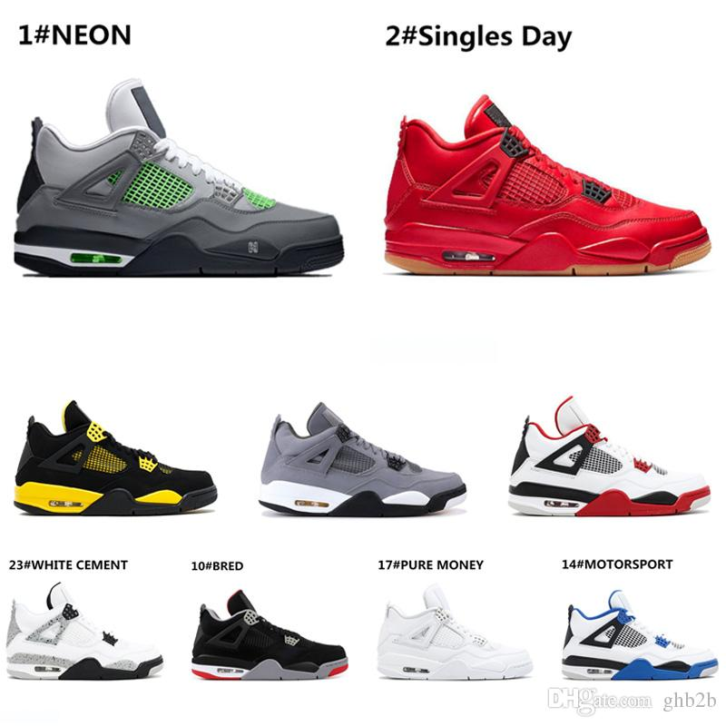 Chaud 2019 Nouvelle Race 4 4S IV Qu'est-ce que le Cactus Jack Laser Wings Chaussures de Basketball pour Hommes Denim Bleu Eminem Pale Citron Hommes Designer Sport Sneakers